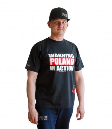Warning Poland in Action T-shirt