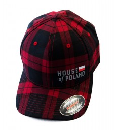 Czapka House of Poland Flexfit krata